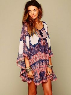 Bohemian Fashion Inspiration. ( very pretty. Needs longer sleeves and longer from the bottom too)
