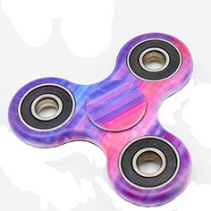 Leezo Metal Bearings Hand Spinner Molded Style Bat Shaped Figit Fidget Spinner Anti-Stress Toys (A)