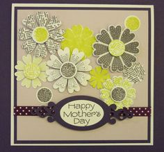 Jane Towse Card using Sizzix Lovely Flowers (stamps and framelit dies)