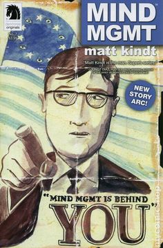 The cover to Mind MGMT #7, art by Matt Kindt