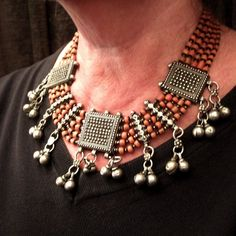 Another view of the same necklace worn ...
