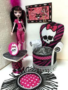 monster high draculaura catty noir couch sofa m bel bett. Black Bedroom Furniture Sets. Home Design Ideas