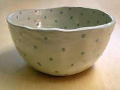 large spotted bowl