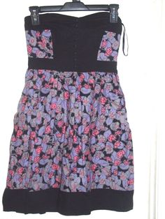8fab02778e Kimchi Blue Urban Outfitters Black Purple Pink Floral Dress S Small   KimchiBlue Pink Floral Dress