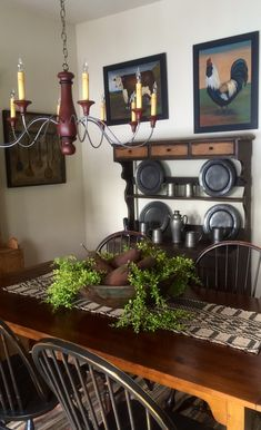 Primitive table and pewter