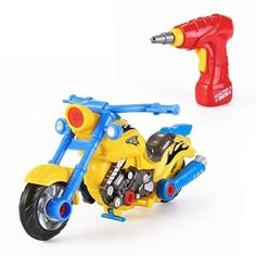 Take Apart Toy Racing Motorcycle Kit for Kids with Electric Drill and Power Tools, More Than 20 Parts Toys For Boys, Kids Toys, Buy Toys, Remote Control Cars, Take Apart, Racing Motorcycles, Kits For Kids, First Car, Tricycle