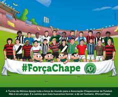 Maurício de Sousa faz homenagem à Chapecoense com Turma da Mônica #globoesporte