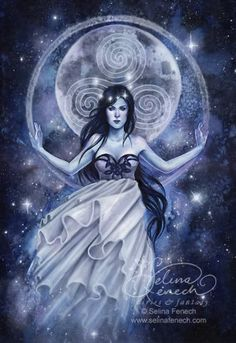 Wicca Moon Goddess | Arianrhod, mother Goddess of the Moon and Stars