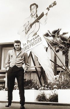Elvis performs for the first time in  Las Vegas at at the New Frontier Hotel on April 23, 1956.  Elvis signed a contract on the 16th April 1956, the engagement was at the New Frontier Hotel, Las Vegas, Nevada. This was Elvis first appearance in Las Vegas. His two weeks of show commenced on April 23, 1956. His hours of employment, seven days a week, fifteen shows per week for a total of 30 shows. Elvis was paid 7,500 dollars per week, $15,000 in total.