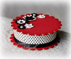 round decorated box for Valentine's Day