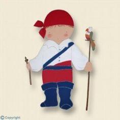 Silueta de madera-Niño pirata