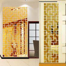 Diy casa decoração da parede tv vara parede decoração adesivos de espelho 3D etiqueta para home decor Acrílico 3d adesivos de parede(China (Mainland))
