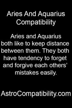 Aries and Aquarius both like.... | AstroCompatibility.com