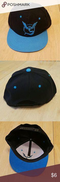Blue Black PokemonGo FLAT RIM Hat 104cac4c53c5