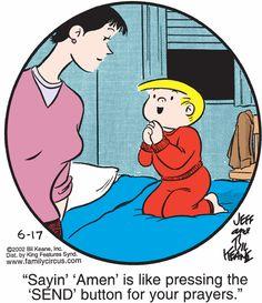 The Family Circus Christian Comics, Christian Humor, Funny Cartoons, Funny Jokes, Funny Sayings, Hilarious, Funny Kids, The Funny, Religious Jokes