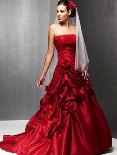 Want this..rows and rows of red ruffles