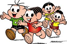 Week 7/ Brazilian Culture. This cartoon is very famous in Brazil, the name is Turma da Mônica, the kids and adults love it. It is a very nice cartoon. It shows the life of four kids that live in a village.