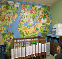Let your baby have fun staying in his/her room by decorating the walls with #castle themed wall murals!