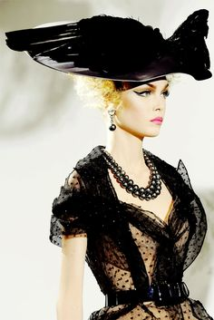 Fancy a hat?John Galliano for Christian Dior Haute Couture