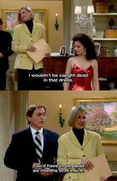 "He was never afraid to comment on fashion. | Community Post: 10 Times Niles From ""The Nanny"" Threw The Best Shade"
