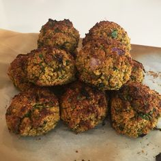 Homemade falafels! Baked, not fried, but still crunchy and satisfying!