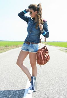 Awesome Outfit With Denim Shirt - Fashion Diva Design