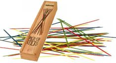Pick up sticks. How did kids play this game? It takes such paitence and carefulness.