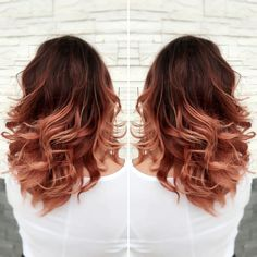 06c7ae6a97bcf0cec2fe95cfc054de57--auburn-rose-gold-hair-red-to-rose-gold-ombre.jpg (736×736)