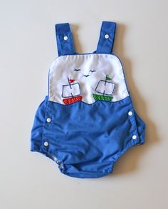 Baby Boy Nautical Romper Size Newborn to 3 Months on Etsy, $14.00