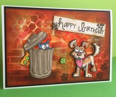 Crazy cats and dogs, Tim Holtz for my sons birthday