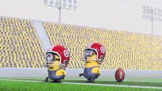 Minion with a winning kick!...