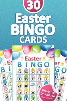 Easter Bingo, Valentine Bingo, Easter Games, Easter Activities, Easter Party, Bingo Set, Bingo Games, Bingo Patterns, Easter Gift For Adults