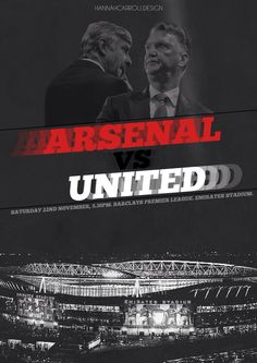 Arsenal v MUFC match graphic by Hannah Carroll Design. 22.11.2014.