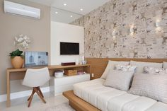 Inspiração para quarto de jovem. Simples e bonito!  @_decor4home Projeto e foto by Claudia Pimenta e Patrícia França