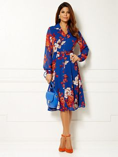Eva Mendes Collection - Pia Shirtdress - Floral - New York & Company