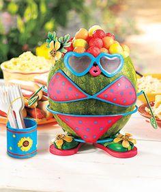 Girl Watermelon Dress Up Kit Lakeside Collection Watermelon Dress, Food Carving, Watermelon Carving, Lakeside Collection, Luau Party, Beach Party, Fruit Art, Summer Fun, Summer Parties