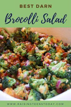 Teen-Test Recipes: No more bribes to get your kids to eat brocolli! They're sure… Teen-Test-Rezepte: Keine Bestechung mehr, damit Ihre Kinder Brokkoli essen! Easy Broccoli Salad, Broccoli Cauliflower Salad, Broccoli Recipes, Brocolli Salad With Bacon, Best Broccoli Salad Recipe, Spinach Salads, Bacon Salad, Cooking Recipes, Healthy Recipes