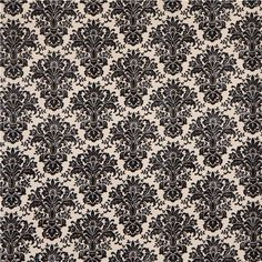 ecru damask ornament fabric by Timeless Treasures