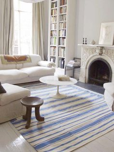 A striped rug never looked so good.
