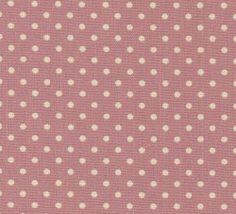 Cotton Canvas - Polka Dot - Pink