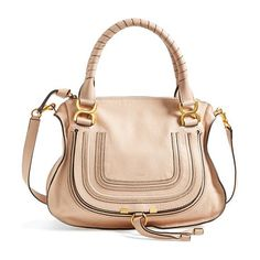 Medium marcie leather satchel by Chloe. A textured, curvy flap-branded by subtle embossing-secures the front pocket of a sophisticated satchel crafted from l...