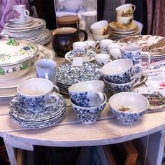 Tea cups! There is gorgeous vintage china for days in our Moorland Road charity shop.