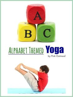Alphabet yoga is a fun way to get kids moving while learning their letters.  Each pose is associated with a different letter of the alphabet.  It's a fun way to work on gross motor skills while learning!