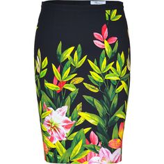 Collection featuring Jil Sander Knee Length Skirts, Versace Knee Length Skirts, and 98 other items Floral Swimsuit, Printed Skirts, What To Wear, Topshop, Swimsuits, My Style, Stylish, Clothes, Black