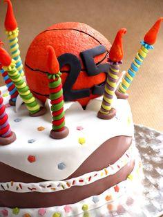 Tarta de cumpleaños para un jugador de baloncesto