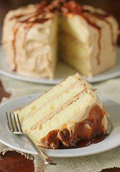 Southern Caramel Layer Cake. This is a basic buttermilk cake with a sweet caramel frosting. The frosting, oh the frosting…