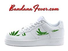 quality design fa06a 87442 Custom Weed Pot Leaf Nike Air Force 1 Shoes White Low,  weed,