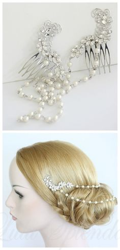 Hey, I found this really awesome Etsy listing at https://www.etsy.com/listing/186133506/pearl-chain-bridal-headpiece-pearl-chain $135