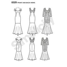 Simplicity Pattern 8329 Misses' Dress with Fabric and Sleeve Variations