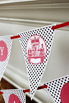 Firetruck 3rd Birthday Party - Vintage Fireman Party Ideas |